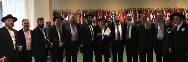 Rabbi Y Goldstein in UN GA