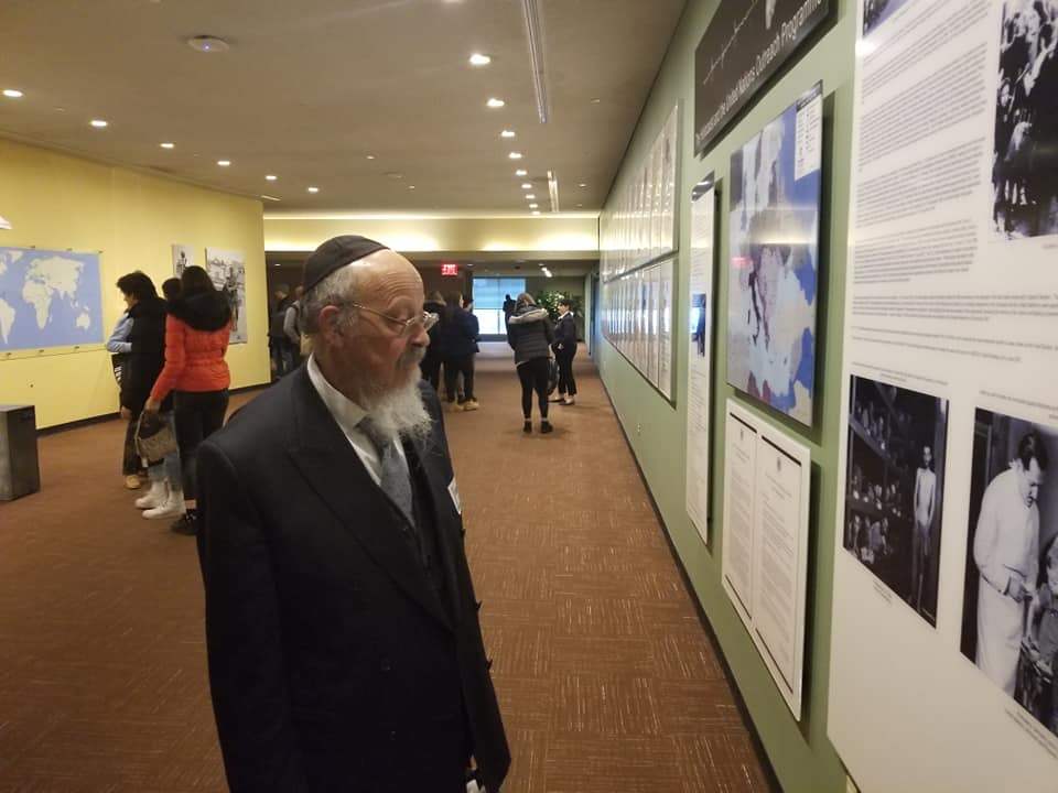 Rabbi Dr Shimon D Cowen in UN HQ